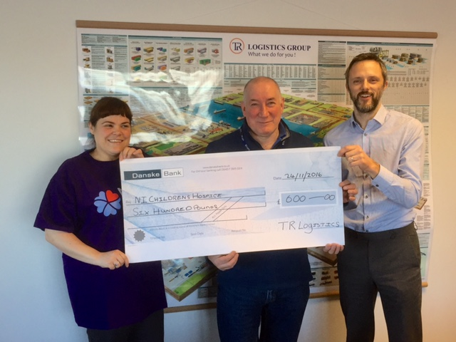TR Logistis Raise £600 for NI Hospice